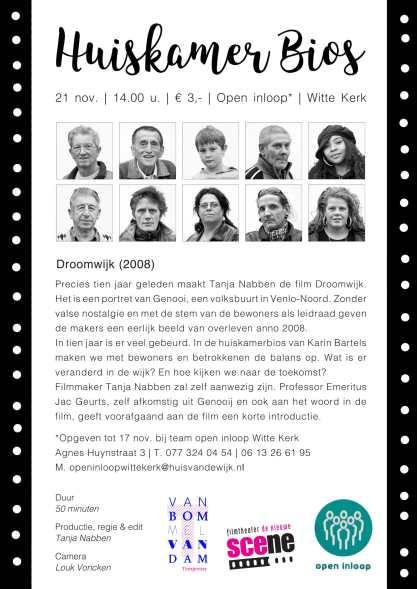 Uitnodiging Huiskamer Bios - Droomwijk - 21 nov-1